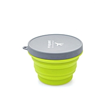 Foldable Collapsible Microwave Box Travel Picnic Food Container Fruits Bowl green