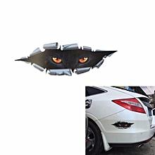 3D Car Sticker Cat Eye Stereoscopic Simulated Waterproof Decal 11X43CM