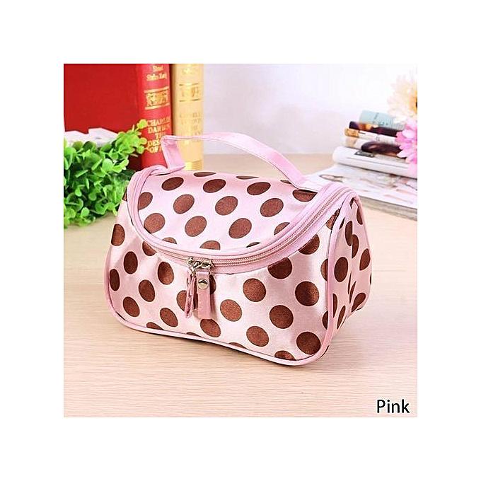 b0cf6aa39974df Fashion Dot Toiletry Bag Cosmetic Bag Large Capacity Portable Organizer  Women Makeup Bags Storage Travel Bags