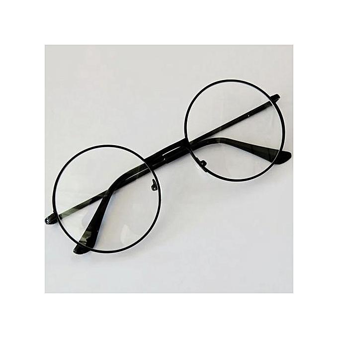 Buy Generic Retro Round Circle Metal Frame Eyeglasses Clear Lens ...