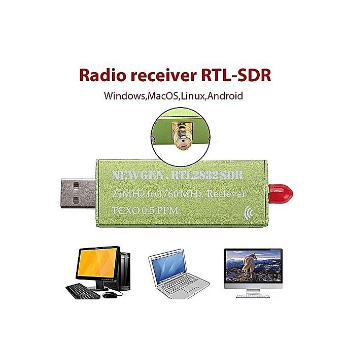 RTL-SDR Receiver Radio Receiver Portable UHF Aluminum Shell SMA F Linrad  GQRX PPM TCXO