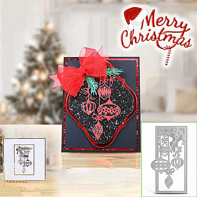 ... Metal DIY Cutting Dies Stencil Scrapbook Paper Embossing Christmas Card Decor