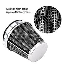 Motorcycle Air Filter Air Intake Filter Cleaner Universal for Honda Kawasaki Yamaha (42mm/1.7in)