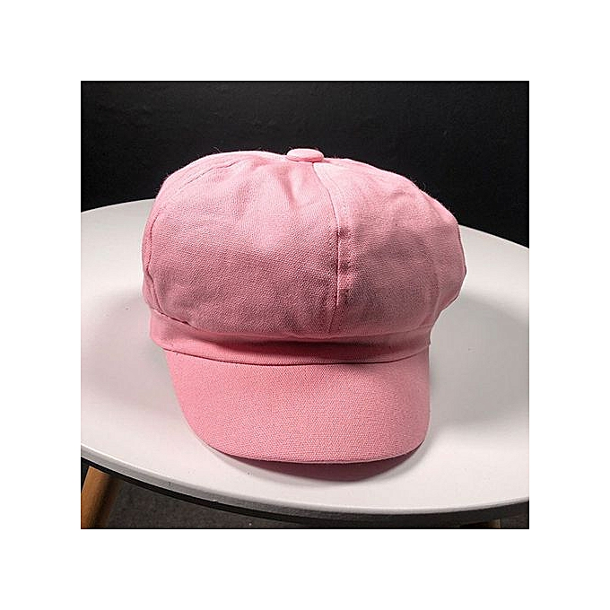 4b076436564 Zetenis Women Lady Golf Driving Cool Octagonal Beanie Cap Beach Outdoor Sun  Hat-Pink