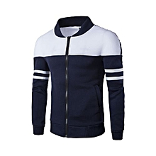 Men's Hot Sale Jamickiki Autumn Men Fashion Hoodies Sweatshirts Long Sleeve Zipper Jacket-blue