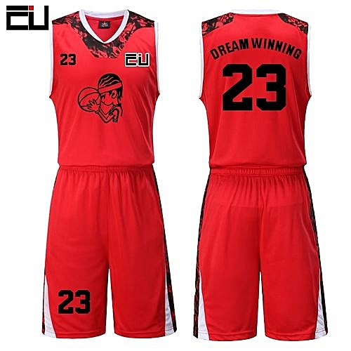 6fc39325d Eufy High Quality Men s Customized Team Basketball Sport Jersey Uniform-Red( JY-1622)