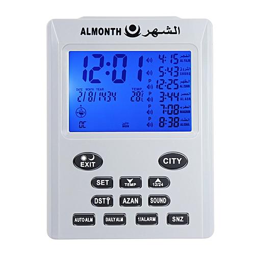 Muslim LCD Digital Azan Clock Islamic Watch Mosque Azan Clocks Prayer Times