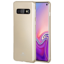 MERCURY GOOSPERY I JELLY METAL TPU Protective Case for Galaxy S10(Gold)