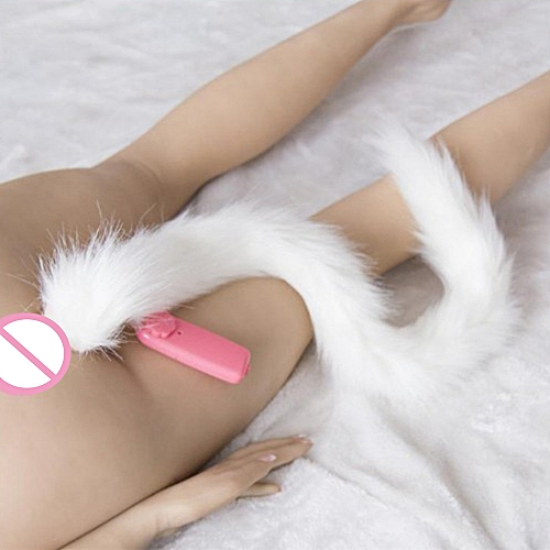 f2fe9811c Generic Silicone Vibration Anal plug Fox Tail Butt Plug Anal Sex Toys Anal  Tail Plug