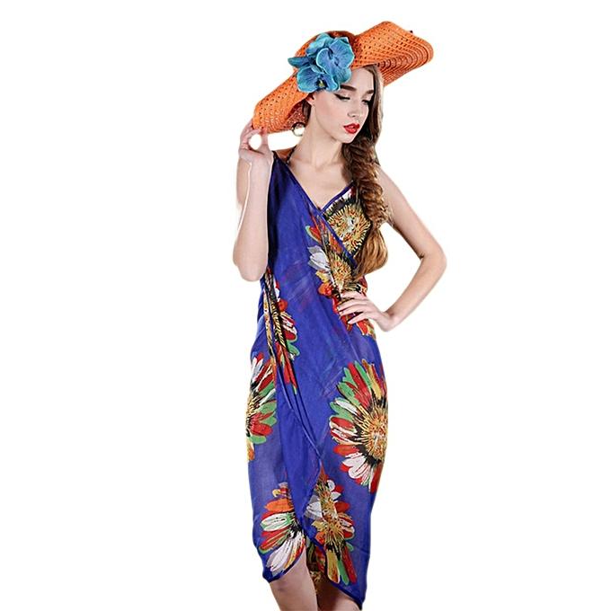 2313e84f48 Women Sexy Summer Floral Chiffon Bikini Cover Up Beach Dress Swimwear Wrap