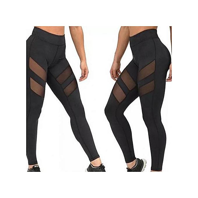 64fea34dc7 Fashion Mesh Leggings for Fitness Women Trousers Push Up Leggins High Waist  Elastic Workout Pants Leggins