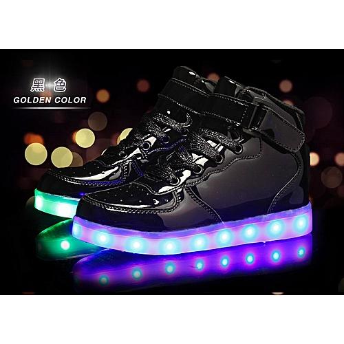 huge selection of d2de8 d37e6 LED Sneaker (USB Chargeable)- Black
