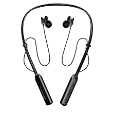 Waterproof Sports Earphones with Neckband,Stereo sound, Noise Cancelling with Built in Mic-Black