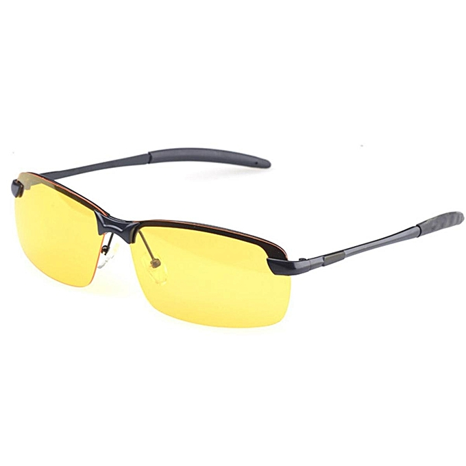 b20c8285c4 ... Anti-Glare TAC Men Driving Yellow Lens Sunglasses Night Vision  Polarized Glasses  Black ...