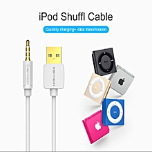 Vention CDEWD 0.5M Apple iPod data cable MP3 Charging Line Shuffle3 4 5 6 7 Generation USB to 3.5mm (White) ULINE