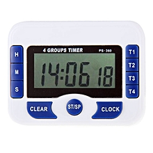 PS-360 4 Groups Alarm Timer Digital Kitchen Countdown Clock