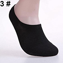 6 Pairs Men Fashion Summer Bamboo Ankle Invisible Loafer Boat Liner Low Cut Socks-3#gray