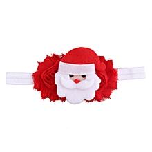 Christmas Headwear Girls Infant Hair Band Bow Headbands Flower Hair Accessories-Red