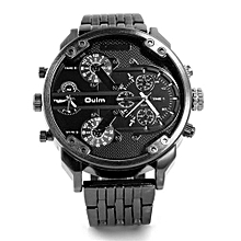 Watches, 3548 Fashion Casual Watches for Men Stainless Steel Quartz Watch - Black