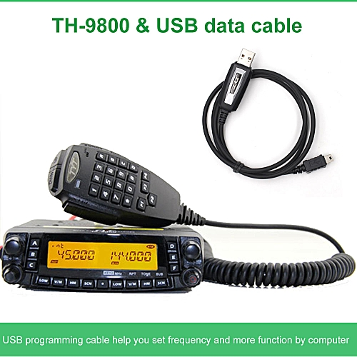Latest version TH-9800 Quad Band 29/50/144/430MHz 50W Walkie Talkie  Upgraded TH9800 809CH Dual Display Mobile Radio Station JULIANA