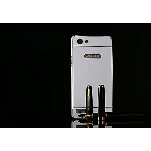 Luxury Metal Bumper Frame And Mirror PC Back Cover For Oppo Neo 7 / A33 (
