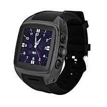 Android Smart Watch X01 IPS Bluetooth Smart Watch WithGPS+3G+WiFi+GPRS Bluetooth Watch For Android Phone (Color:Black)