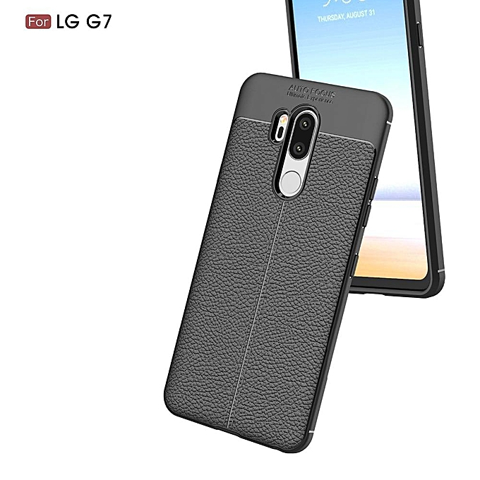 c135a18701a ... For LG G7 Case 6.1 Inch Luxury Ultra-Thin Shockproof Soft TPU Leather  Phone Cases ...