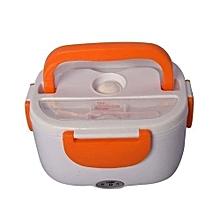 Electronic Heating Lunch Box - White/Orange