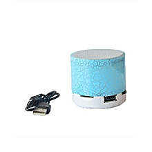 Generic Mini Portable Bluetooth Stereo Speaker With Built-in Mic and LED(Without FM) - Blue.