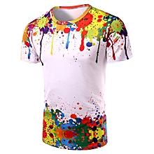 Men's 3D Colorful Splatter Paint T-Shirt - Colormix