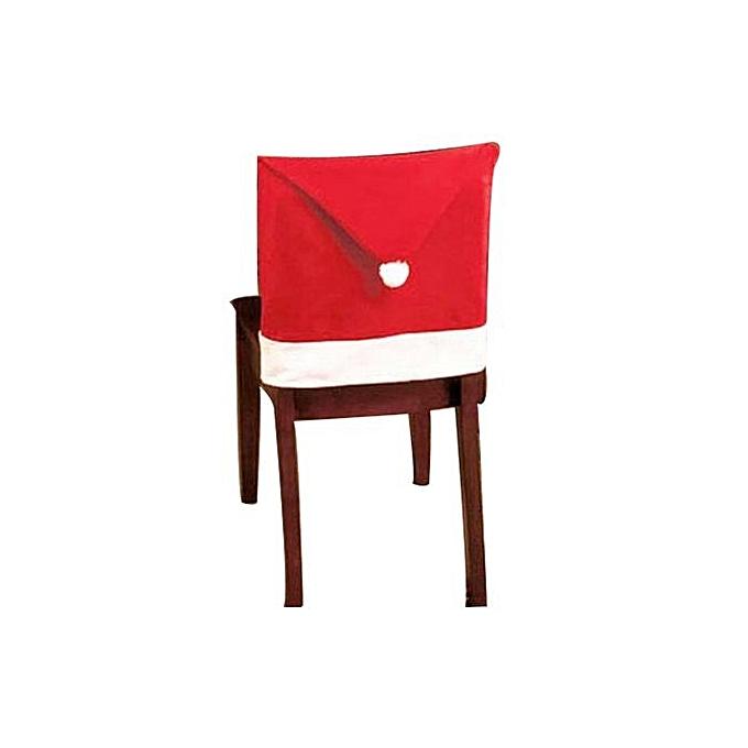 ca26c4d893f02 Technologg Home Decor 10PCS Santa Hat Chair Covers Christmas Decor Dinner  Chair Xmas Cap Sets-