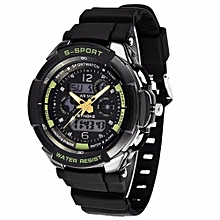 Fashion Calendar Waterproof Luminous Sports Watch(Green)