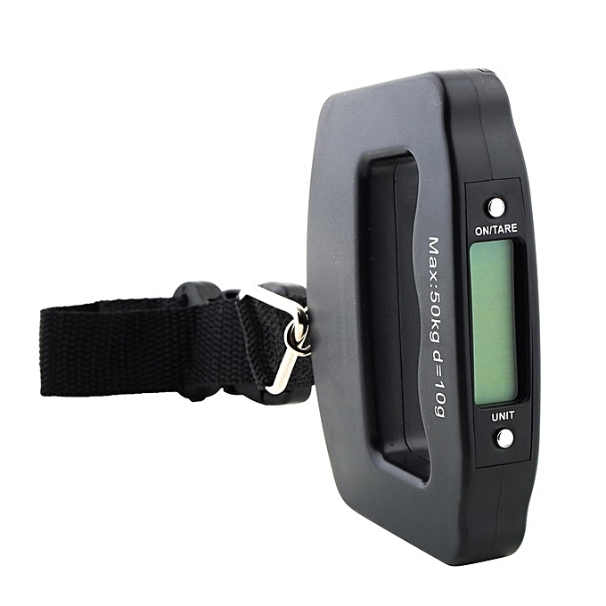... Home-50kg x 10g Digital LCD Portable Scale Hanging Travel Digital Luggage Scale Black ...