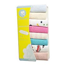 8 Pieces Baby Infant Newborn Washcloth  - Multicolor .