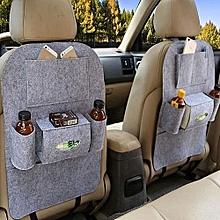 Backseat car organizer light grey