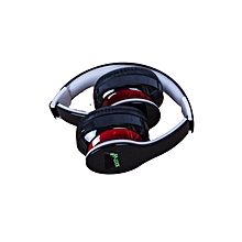 Black Headphones - Bluetooth/FM/SD BLACK