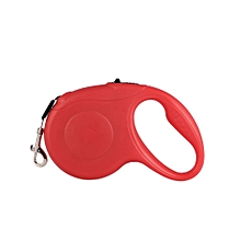 5M 16.5ft 33lbs Retractable Dog Leash Solid Pet Dog Cat Tractor Traction Rope Red