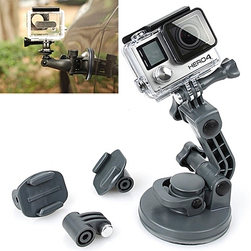 TMC Car Suction Cup Mount + Tripod Adapter + Handle Screw for GoPro NEW  HERO /HERO6 /5 /5 Session /4 Session /4 /3+ /3 /2 /1, Xiaoyi and Other  Action