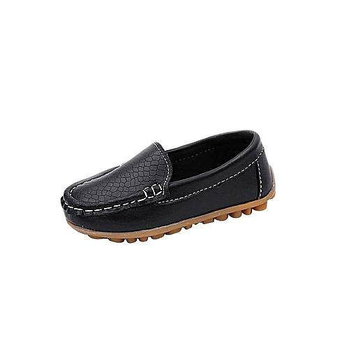 bb7bcebc97fa3 Generic Kids Black Loafers   Best Price
