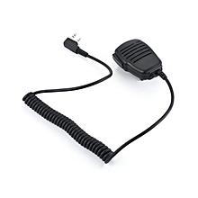 UJ Rainproof 2-pin Shoulder Remote Speaker Mic Microphone PTT-black