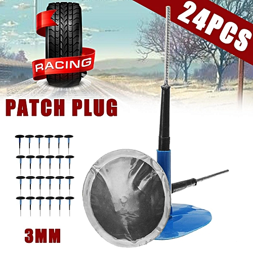 24Pcs/Set 3mm Rod Dia  Patch Plug General Car Tire Filling Repair Section