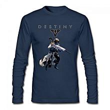 Destiny Warlock Men's Cotton Long Sleeve T-shirt Blue