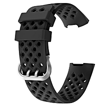 Fashion Sports Breathable Silicone Bracelet Strap Band For Fitbit Charge 3