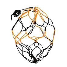 Nylon Net Bag Ball Carry Mesh Basketball Football Soccer Game Black&Yellow