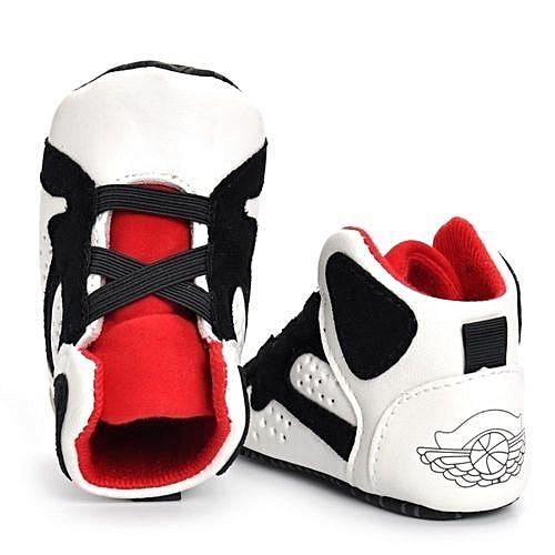 abd0460e1 YiQu bluerdream-Newborn Infant Kid Girls Boys Crib Shoes Soft Sole  Anti-slip Baby Sneakers Shoes- White