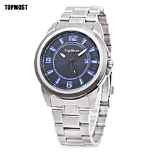 1932 Male Quartz Watch Calendar Luminous Water Resistance Wristwatch-Silver And Blue-Silver And Blue
