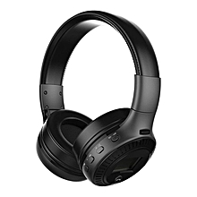 Active Noise Cancelling Bluetooth Wireless Over Ear Headphones with Microphone black