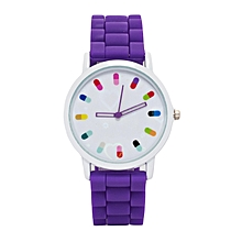 Purple Rubber Strap Ladies Watch..