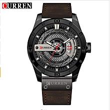 Men's Casual Sport Quartz Watch Mens Watches Top  Quartz-Watch Leather Strap Military Watch Wrist Male Clock