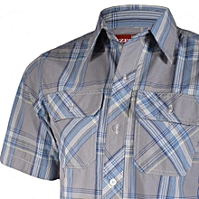 Zecchino Grey Checked Men's Shirt